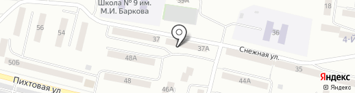 Пивная кружка на карте Братска