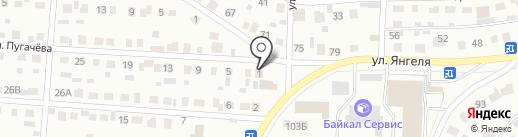 Киоск по продаже автобусных билетов на карте Братска