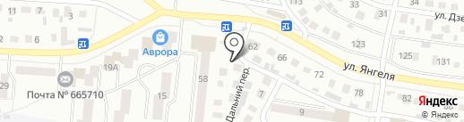 Сластёна на карте Братска
