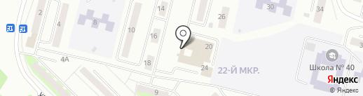 Продуктовый магазин №96 на карте Братска