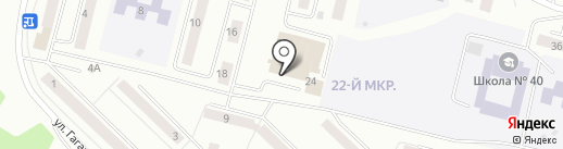 Почтовое отделение №32у на карте Братска