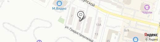 Гефест на карте Братска