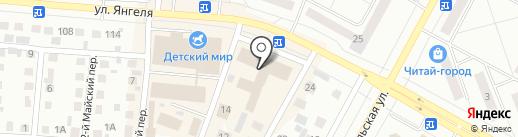 Вечерний Братск на карте Братска