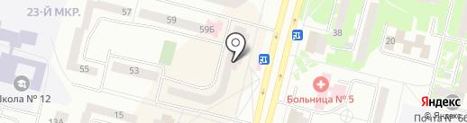Магазин хлебобулочных изделий на карте Братска