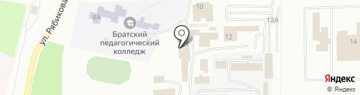 Сибирская транспортно-экспедиционная компания на карте Братска
