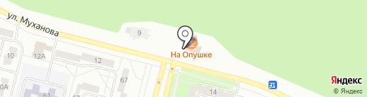 На опушке на карте Братска