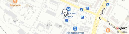 Гамма на карте Братска