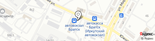 Пицца street на карте Братска