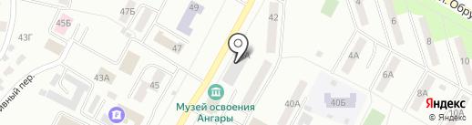 Управление пенсионного фонда РФ в г. Братске и Братском районе на карте Братска
