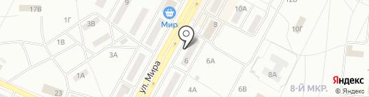ФРН на карте Братска