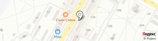 Братчанка на карте Братска