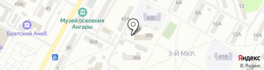 38 регион на карте Братска