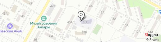 Детский сад №61, Семицветик на карте Братска