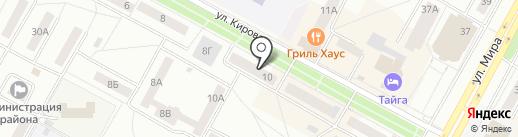 Магазин органической косметики на карте Братска
