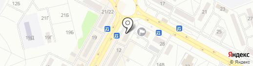 Л`Этуаль на карте Братска
