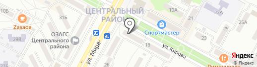 Босяков на карте Братска
