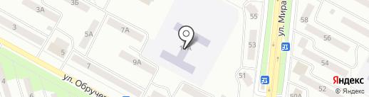 Средняя общеобразовательная школа №5 на карте Братска
