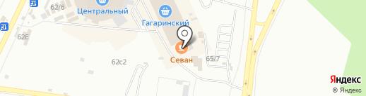Севан на карте Братска
