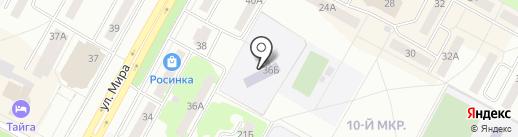 Вечерняя (сменная) общеобразовательная школа №9 на карте Братска