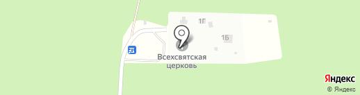 Храм Всех Святых в земле Российской просиявших на карте Братска