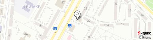 Соболёк на карте Братска