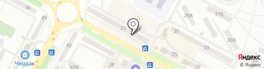 Экспрессия на карте Братска