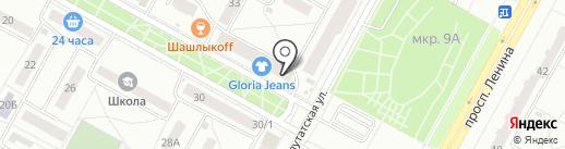 Бухта изобилия на карте Братска