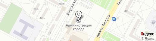 Отдел развития торговли и сферы услуг Администрации г. Братска на карте Братска