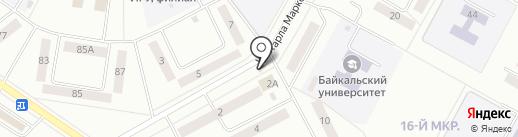 Стениха на карте Братска