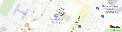 L на карте Братска