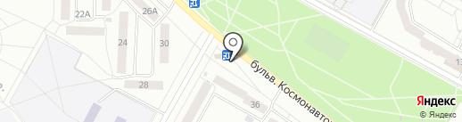 Киоск по продаже бытовой химии на карте Братска