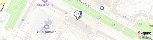 Магазин мужской одежды на карте Братска