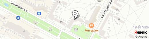 Центр одежды и обуви на карте Братска