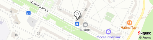 Советский на карте Братска