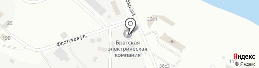 АТК на карте Братска
