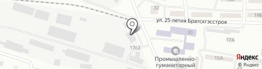 Нордекс, ГК на карте Братска