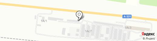 Дорожник на карте Братска
