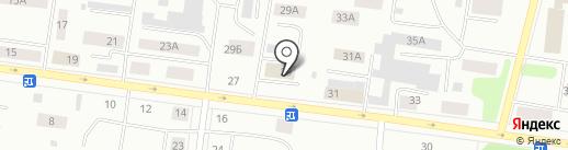Падун на карте Братска