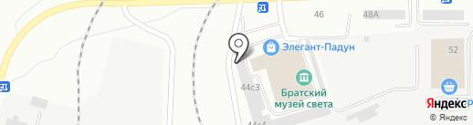 Голицын на карте Братска