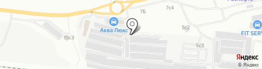 Эпас на карте Братска