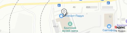 Модуль на карте Братска