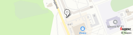 Продуктовый магазин на ул. Гиндина на карте Братска