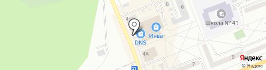 Парус на карте Братска