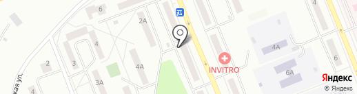 Шпулька на карте Братска