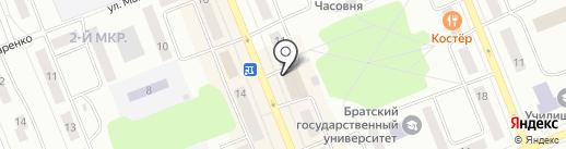 Магазин игрушек и товаров для новорожденных на карте Братска