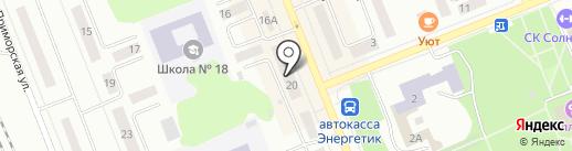 Братский Акционерный Народный коммерческий Банк на карте Братска