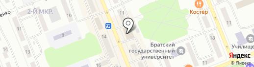 Лис на карте Братска