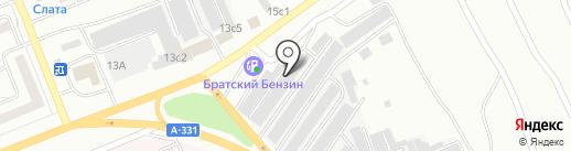 Милекома на карте Братска