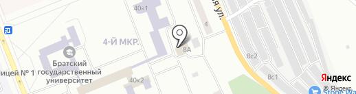 Булава на карте Братска
