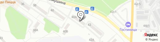 Магазин канцелярских товаров и игрушек на карте Братска